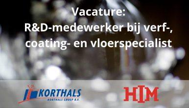 Vacature: R&D-medewerker bij verf-, coating- en vloerspecialist in IJmuiden